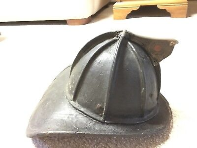Cairns & Brother Leather Fire HELMET New York Antique firefighter Original USED