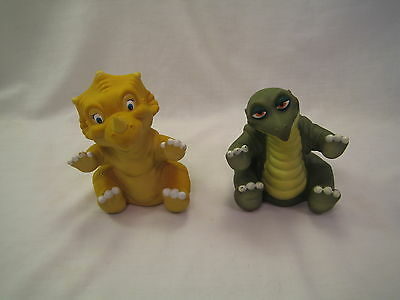 1988 Vintage Pizza Hut Land Before Time Rubber Hand Puppet SPIKE & CERA #2