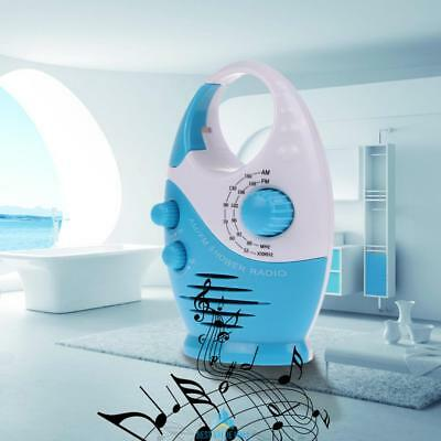 Mini FM AM Waterproof Shower Music Hanging Radio Handfree For Bathroom Bath