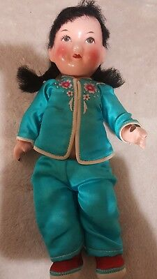 vintage asian jointed doll