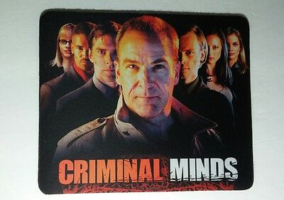 Criminal Minds Gideon With Cast Group Photo Tv Black Mouse Pad Mousepad