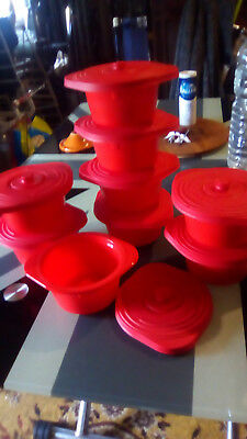 Lot 9 mini-cocottes rouge silicone special micro onde envoi offert