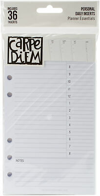 These Inserts Were Designed To Fit In Carpe Diem Personal Planners (Sold Separat