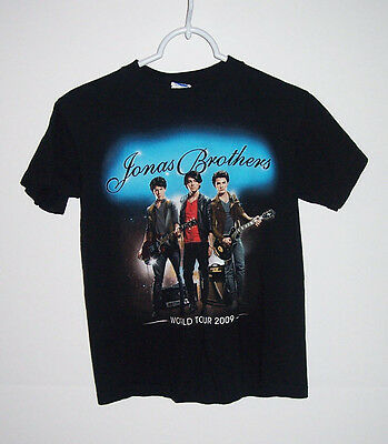 Jonas Brothers World Tour 2009 T Shirt Size Youth L