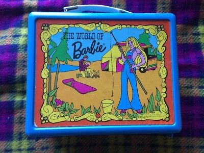 Vintage Barbie Lunch Box Blue