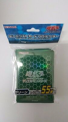 Konami YUGIOH sleeves Duelist Card Sleeves Protector Green 55pcs
