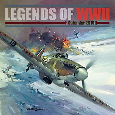 Legends of WWII Official 2018 Square Wall Calendar