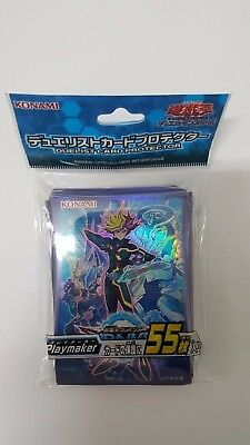 Konami YUGIOH sleeves Duelist Card Sleeves Protector Green Playmate 55pcs