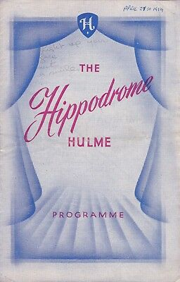 LARRY GAYSON appears in Variety - Hulme Hippodrome, week 27/04/1959