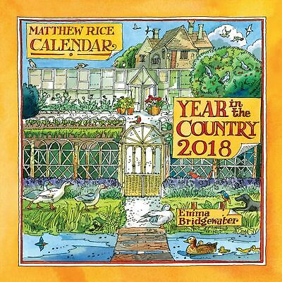 Matthew Rice A Year in the Country Official 2018 Square Wall Calendar