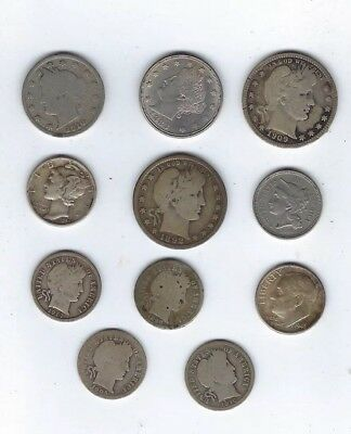 Awesome United States Type Coin Collection, 90% Silver & More, 11 Coins Total