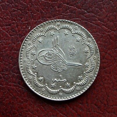 Turkey AH1293 year 9 silver 5 kurush
