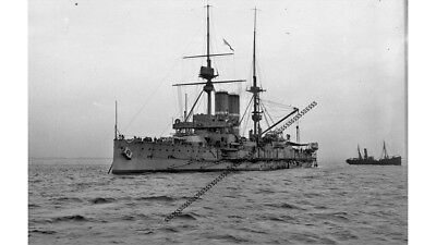 Photographic Glass Negative Navy Grand Fleet Battleship Firth Of Forth  Ww1