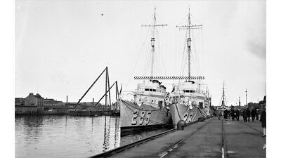 Photographic Glass Negative Firth Of Forth Two Warships Docked Royal Navy Ww1