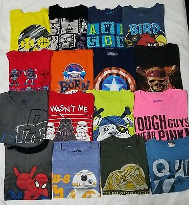 Huge 32 Pc Boys Lot Size 8 Tshirts Button Front Shirts Jeans Short & Long Sleeve