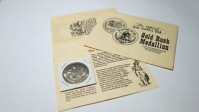 Gold Rush Medal, USA The Official Gold Country Commemorative Medallion