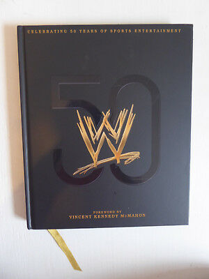WWE Vince McMahon Wrestling - Celebrating 50 Years Hardback Book 2014 - 224 pgs