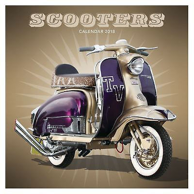 Scooters Official 2018 Square Wall Calendar