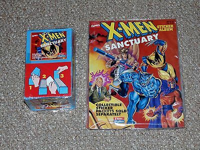 1996 Panini Fleer Skybox X-Men Sanctuary Sealed Card Box & Books Lot