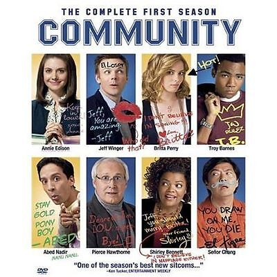 Community: The Complete First 1st Season One 1 (DVD, 2010, 3-Disc Set) - SEALED