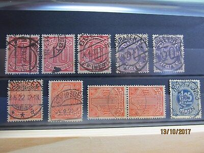 #8 Lot 10  Briefmarken DR Dienstmarken Mi 28, 29, 30, 31