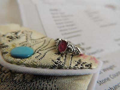 Genuine 0.57 ctw Ruby & Diamond Anniversary Ring 10KT Oval Cut White Gold Size 7