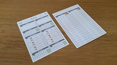 Football / Soccer Referee Score Cards Sheet Pad x 50 Fits in a Wallet