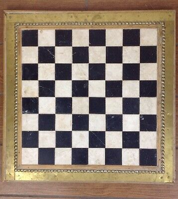 Vintage Table Top Chess Board
