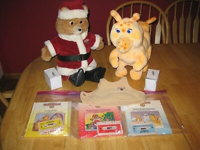 1985 Teddy Ruxpin and Grubby in excellent running condition