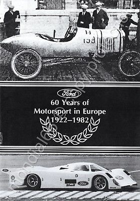 Ford: 60 Years of Motorsport in Europe 1922-1982 🏁 ★☆ TOP! ☆★ Rarität! ☆★