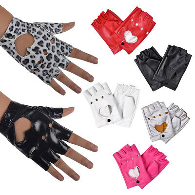 Women PU Leather Motorcycle Bike Car Fingerless Performance Gloves 7 Colors New