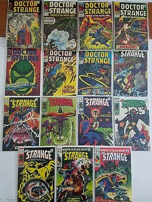 Doctor Strange #169-183 Marvel Silver Age Comic Full Run Lot, High Grade!