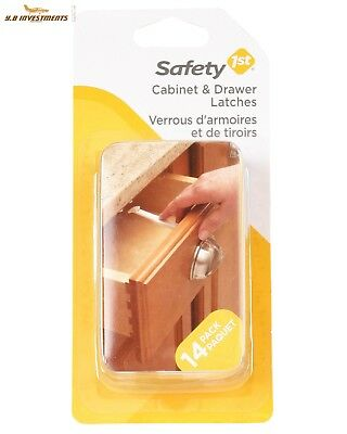 Safety 1st 14 Pack Wide Grip Cabinet Child Proof Baby Locks Drawer Latches
