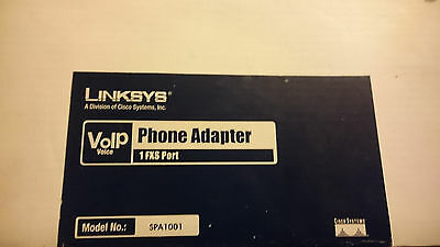 Linksys VOIP Phone adapter SPA1001 1 FXS Port