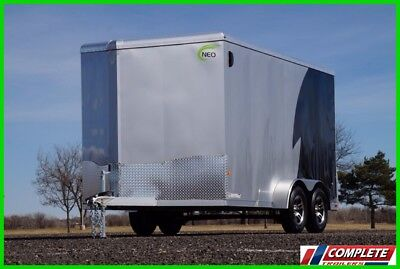 New Aluminum Frame 7x14 V-Nose Enclosed Cargo Motorcycle UTV Trailer