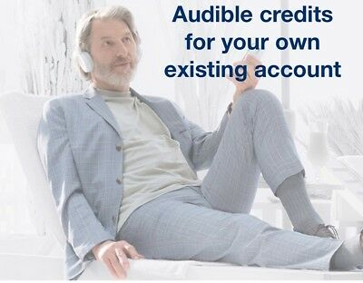 3 Audible.com credits (for your own existing account)