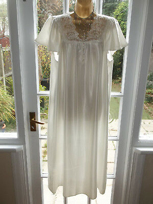 Vintage St Michael Glossy Satin Lacy Nightie Gown UK16-18 Tall Girl BNWT