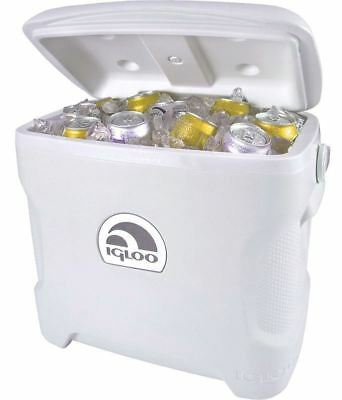 Igloo Marine Ultra 30 Litre Roller Cooler Wheeled Ice Chest Camping Cool Box