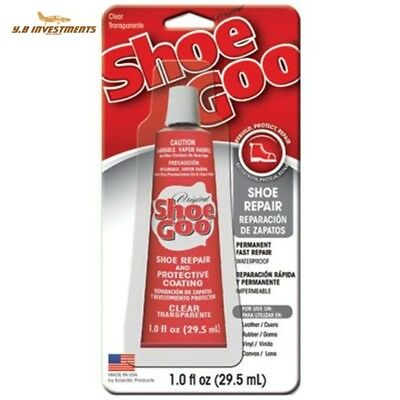 Shoe GOO Adhesive Sealant 1 fl oz Clear For Boots Rubber strong Water Proof