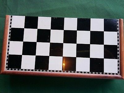 Vintage chess set with magnetic pieces