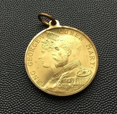 Butterstone,Perthshire ,memorial medal coronation King George v queen mary