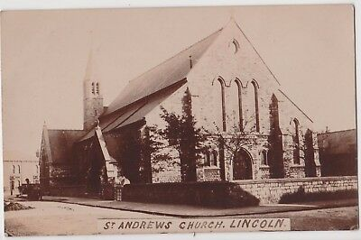 Rp St Andrews Church Lincoln  Lincolnshire Real Photo C 1912