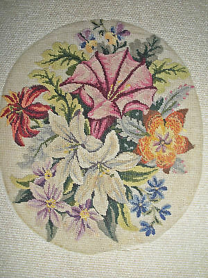 Rare Exquisite Antique Micro Petit Point Embroidery on Net ~Museum Quality~