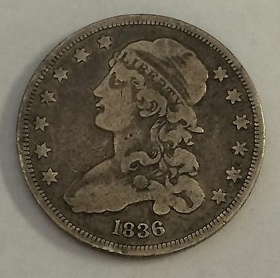1836 25C Capped Bust Quarter