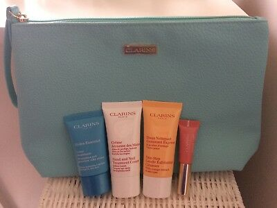 Clarins Set Instant Light Lip Perfector Hydra Essential Cream Gentle Cleanser