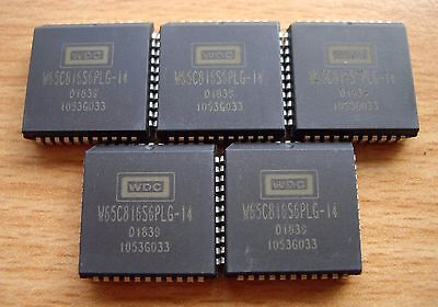 5 x Western Design Center W65C816S6TPLG-14 (CMD / Rockwell) Microprocessor MPU