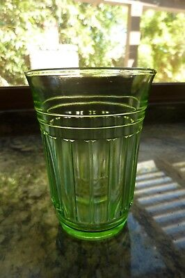 New Century Hazel Atlas Green Tumbler Depression Glass