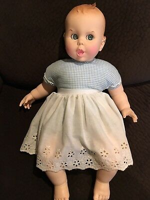 "Gerber Baby Doll 19"" Flirty Eyes 1970 Nice Condition"
