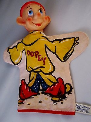 Vintage Gund Dopey Puppet from Snow White and the Seven Dwarfs