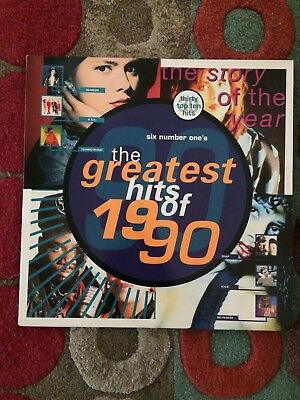 THE GREATEST HITS OF 1990 - 1990 UK Telstar 30-track Double Vinyl LP G/F Sleeve